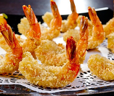 海老と白身魚の特製天丼