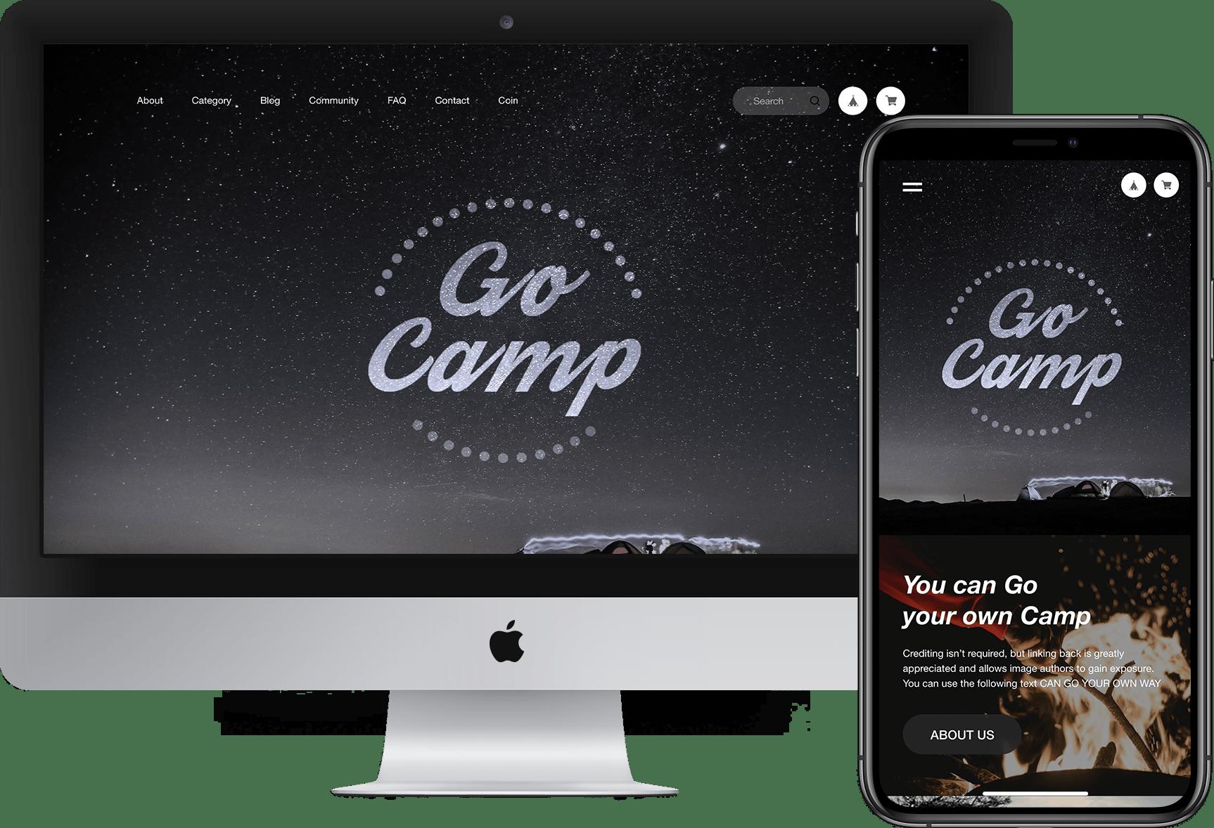 Go Campテーマ適用イメージ